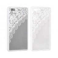 Cover per Samsung S8 custodia rigida bordo in gomma disegno bianco