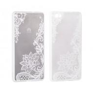 Cover per Samsung S8 Plus custodia rigida bordo in gomma fiori di loto bianco