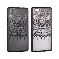Cover per Samsung S8 Plus custodia rigida bordo in gomma disegno nero