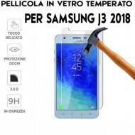 Pellicola per Samsung J3 2018 Antiurto in Vetro Temperato Proteggi Schermo