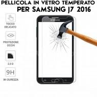 Pellicola per Samsung Galaxy J7 2016 Antiurto Vetro Temperato Proteggi Schermo