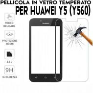 Pellicola per Huawei Y5 (Y560) Antiurto in Vetro Temperato Proteggi Schermo