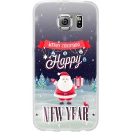 Cover per Huawei P9 Lite in silicone con babbo natale Merry christmas