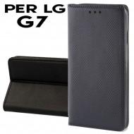 Custodia Smart per LG G7 covert pu a libro-portafoglio  stand case interno in tpu Nero