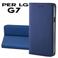 Custodia Smart per LG G7 covert pu a libro-portafoglio  stand case interno in tpu Blu