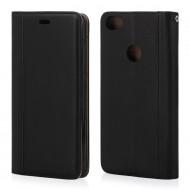 """Custodia per Xiaomi Mi Note 5A cover in ecopelle a libro """"ELEGANCE"""" portafoglio nero"""