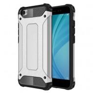 Custodia per Xiaomi Redmi Note 5A Hybrid Armour TPU+PC Cover robusta e resistente Colore Argento