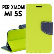 Custodia cover Per Xiaomi Mi 5S Lime-blu ,slim luxury a libro/portafoglio stand case interno in tpu
