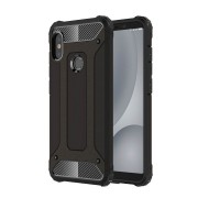 Custodia per Xiaomi Redmi A2 Lite e Redmi 6 Pro Hybrid Armour TPU+PC Cover robusta e resistente Colore Nero