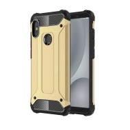 Custodia per Xiaomi Redmi A2 Lite e Redmi 6 Hybrid Armour TPU+PC Cover robusta e resistente Colore Oro
