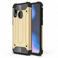 Custodia per Samsung A40 Hybrid Armour TPU+PC Cover robusta e resistente Colore Oro