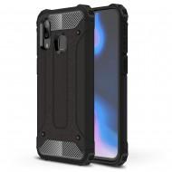 Custodia per Samsung A40 Hybrid Armour TPU+PC Cover robusta e resistente Colore Nero