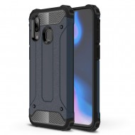 Custodia per Samsung A40 Hybrid Armour TPU+PC Cover robusta e resistente Colore Blu