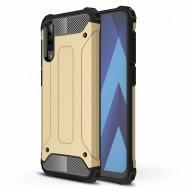 Custodia per Samsung A50 Hybrid Armour TPU+PC Cover robusta e resistente Colore Oro