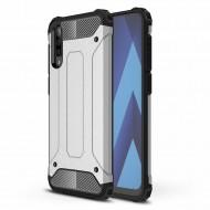 Custodia per Samsung A50 Hybrid Armour TPU+PC Cover robusta e resistente Colore Argento