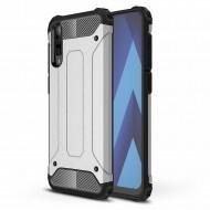 Custodia per Samsung A70 Hybrid Armour TPU+PC Cover robusta e resistente Colore Argento