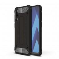 Custodia per Samsung A70 Hybrid Armour TPU+PC Cover robusta e resistente Colore Nero