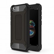 Custodia per Xiaomi Redmi Go Hybrid Armour TPU+PC Cover robusta e resistente Colore Nero