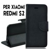 Custodia cover Per Xiaomi S2 Nero ,slim luxury a libro/portafoglio stand case interno in tpu