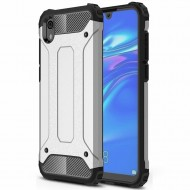 Custodia per Huawei Y5 2019 Hybrid Armour TPU+PC Cover robusta e resistente Colore Argento