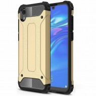 Custodia per Huawei Y5 2019 Hybrid Armour TPU+PC Cover robusta e resistente Colore Oro