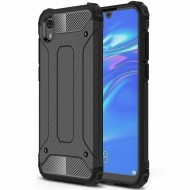 Custodia per Huawei Y5 2019 Hybrid Armour TPU+PC Cover robusta e resistente Colore Nero