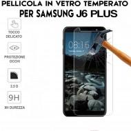Pellicola per Samsung Galaxy J6 Plus Antiurto Vetro Temperato Proteggi Schermo