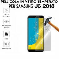 Pellicola per Samsung Galaxy J6 2018 Antiurto Vetro Temperato Proteggi Schermo