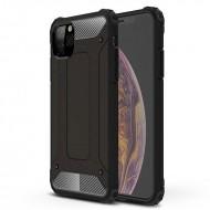 Custodia per Iphone 11 Pro Max Hybrid Armour TPU+PC Cover robusta e resistente Colore Nero