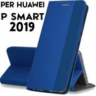 Custodia per Huawei P Smart 2019  Blu cover tpu portafoglio Sensitive libro chiusa magnetica