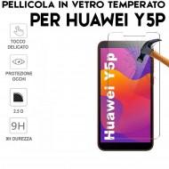 Pellicola per Huawei Y5P Antiurto in Vetro Temperato Proteggi Schermo