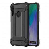 Custodia per Huawei Y6P Hybrid Armour TPU+PC Cover robusta e resistente Colore Nero
