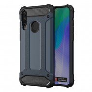 Custodia per Huawei Y6P Hybrid Armour TPU+PC Cover robusta e resistente Colore Blu