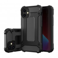 Custodia per Iphone 12 Pro MAX Hybrid Armour TPU+PC Cover robusta e resistente Colore Nero