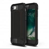 Custodia per Iphone 7-8 e SE 2020 Hybrid Armour TPU+PC Cover robusta e resistente Colore Nero