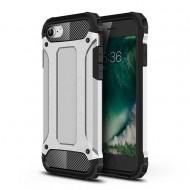 Custodia per Iphone 7-8 e SE 2020 Hybrid Armour TPU+PC Cover robusta e resistente Colore Argento