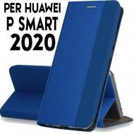 Custodia per Huawei P Smart 2020 Blu cover tpu portafoglio Sensitive libro chiusa magnetica