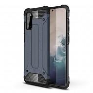 Custodia per Samsung A41 Hybrid Armour TPU+PC Cover robusta e resistente Colore Blu