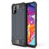 Custodia per Samsung A71 Hybrid Armour TPU+PC Cover robusta e resistente Colore Blu