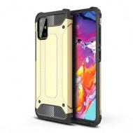 Custodia per Samsung A71 Hybrid Armour TPU+PC Cover robusta e resistente Colore Oro