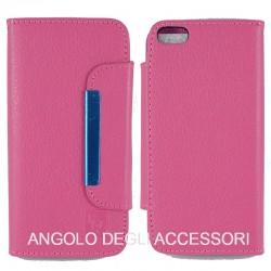 Custodia cover a libro/portafoglio  con porta tessere ,fantasia Torre Eiffel sfondo blu
