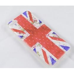 Cover Back case in gomma di silicone per Iphone 5 con bandiera inglese
