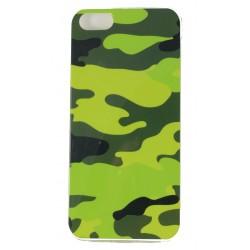 Cover Back case in gomma di silicone per Iphone 5 camuflage , mimetica