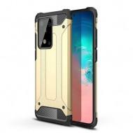 Custodia per Samsung S20 Ultra Hybrid Armour TPU+PC Cover robusta e resistente Colore Oro