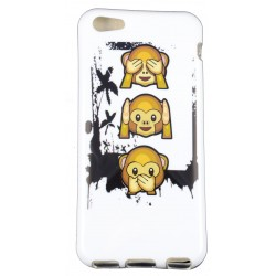 Cover Back case in gomma di silicone per Iphone 5c Scimmiette