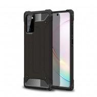 Custodia per Samsung Note 20 Hybrid Armour TPU+PC Cover robusta e resistente Colore Nero
