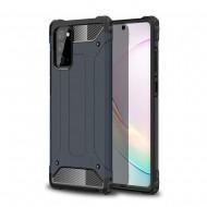 Custodia per Samsung Note 20 Hybrid Armour TPU+PC Cover robusta e resistente Colore Blu