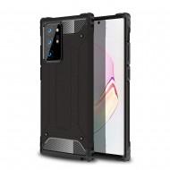 Custodia per Samsung Note 20 Ultra Hybrid Armour TPU+PC Cover robusta e resistente Colore Nero