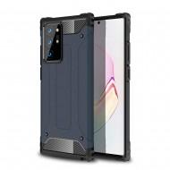 Custodia per Samsung Note 20 Ultra Hybrid Armour TPU+PC Cover robusta e resistente Colore Blu