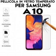 Pellicola per Samsung A10 in Vetro Temperato Proteggi Schermo